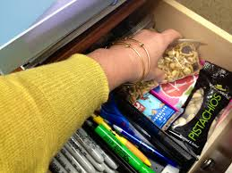 snacks in your desk drawer