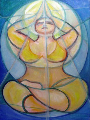 Curvy yoga art